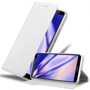 Cadorabo Hülle für Huawei MATE 10 LITE in CLASSY SILBER - Handyhülle mit Magnetverschluss, Standfunktion und Kartenfach - Case Cover Schutzhülle Etui Tasche Book Klapp Style