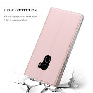 Cadorabo Hülle für Xiaomi Mi MIX 2 in CLASSY ROSÉ GOLD - Handyhülle mit Magnetverschluss, Standfunktion und Kartenfach - Case Cover Schutzhülle Etui Tasche Book Klapp Style - Vorschau 5