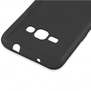 Cadorabo Hülle für Samsung Galaxy J1 2016 in SCHWARZ - Handyhülle aus flexiblem TPU Silikon - Silikonhülle Schutzhülle Ultra Slim Soft Back Cover Case Bumper - Vorschau 4