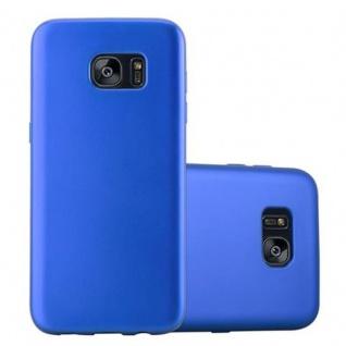 Cadorabo Hülle für Samsung Galaxy S7 EDGE in METALLIC BLAU - Handyhülle aus flexiblem TPU Silikon - Silikonhülle Schutzhülle Ultra Slim Soft Back Cover Case Bumper - Vorschau 1
