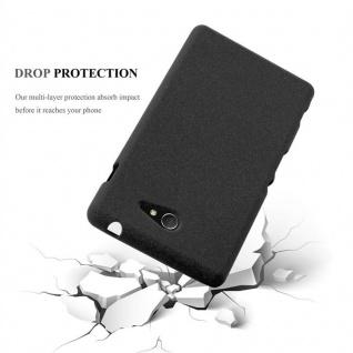 Cadorabo Hülle für Sony Xperia M2 / M2 Aqua in FROST SCHWARZ - Handyhülle aus flexiblem TPU Silikon - Silikonhülle Schutzhülle Ultra Slim Soft Back Cover Case Bumper - Vorschau 3