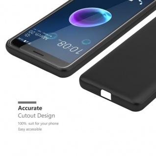 Cadorabo Hülle für HTC Desire 12 in METALLIC SCHWARZ - Handyhülle aus flexiblem TPU Silikon - Silikonhülle Schutzhülle Ultra Slim Soft Back Cover Case Bumper - Vorschau 5