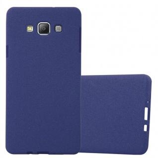 Cadorabo Hülle für Samsung Galaxy A7 2015 in FROST DUNKEL BLAU - Handyhülle aus flexiblem TPU Silikon - Silikonhülle Schutzhülle Ultra Slim Soft Back Cover Case Bumper