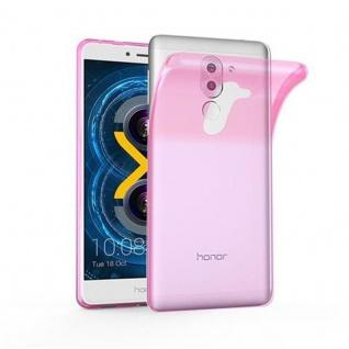 Cadorabo Hülle für Huawei MATE 9 LITE - Hülle in TRANSPARENT PINK ? Handyhülle aus TPU Silikon im Ultra Slim 'AIR' Design - Ultra Slim Soft Backcover Case Bumper