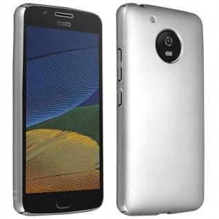 Cadorabo Hülle für Motorola MOTO G5 in METALL SILBER ? Hardcase Handyhülle aus Plastik gegen Kratzer und Stöße ? Schutzhülle Bumper Ultra Slim Back Case Hard Cover