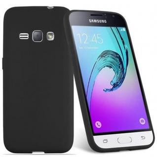 Cadorabo Hülle für Samsung Galaxy J1 2016 in CANDY SCHWARZ - Handyhülle aus flexiblem TPU Silikon - Silikonhülle Schutzhülle Ultra Slim Soft Back Cover Case Bumper - Vorschau 2