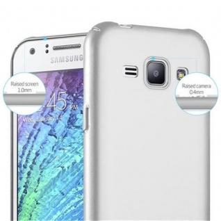 Cadorabo Hülle für Samsung Galaxy J1 2015 in METALL SILBER - Hardcase Handyhülle aus Plastik gegen Kratzer und Stöße - Schutzhülle Bumper Ultra Slim Back Case Hard Cover - Vorschau 5