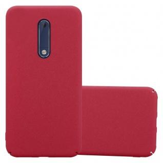 Cadorabo Hülle für Nokia 5 2017 in FROSTY ROT Hardcase Handyhülle aus Plastik gegen Kratzer und Stöße Schutzhülle Bumper Ultra Slim Back Case Hard Cover