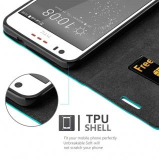 Cadorabo Hülle für HTC Desire 10 LIFESTYLE / Desire 825 in PETROL TÜRKIS - Handyhülle mit Magnetverschluss, Standfunktion und Kartenfach - Case Cover Schutzhülle Etui Tasche Book Klapp Style - Vorschau 3