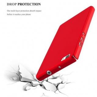 Cadorabo Hülle für Huawei P8 LITE 2015 in METALL ROT - Hardcase Handyhülle aus Plastik gegen Kratzer und Stöße - Schutzhülle Bumper Ultra Slim Back Case Hard Cover - Vorschau 5