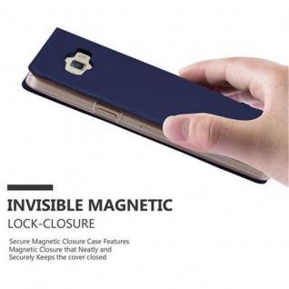 Cadorabo Hülle für Samsung Galaxy A3 2015 in CLASSY DUNKEL BLAU - Handyhülle mit Magnetverschluss, Standfunktion und Kartenfach - Case Cover Schutzhülle Etui Tasche Book Klapp Style - Vorschau 5