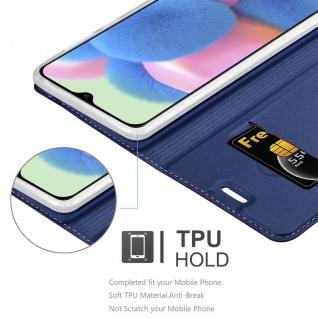 Cadorabo Hülle für Samsung Galaxy A30S in CLASSY DUNKEL BLAU - Handyhülle mit Magnetverschluss, Standfunktion und Kartenfach - Case Cover Schutzhülle Etui Tasche Book Klapp Style - Vorschau 4