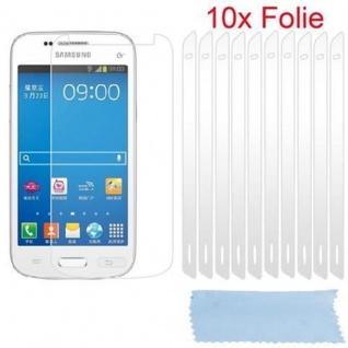 Cadorabo Displayschutzfolien für Samsung Galaxy TREND 3 - Schutzfolien in HIGH CLEAR - 10 Stück hochtransparenter Schutzfolien gegen Staub, Schmutz und Kratzer