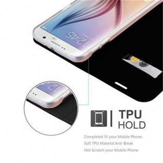 Cadorabo Hülle für Samsung Galaxy S6 in CLASSY SCHWARZ - Handyhülle mit Magnetverschluss, Standfunktion und Kartenfach - Case Cover Schutzhülle Etui Tasche Book Klapp Style - Vorschau 2