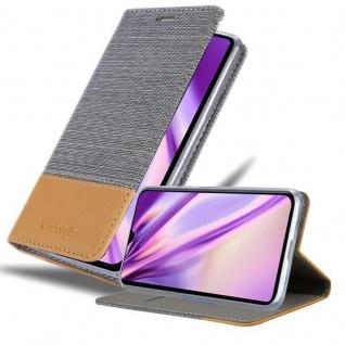 Cadorabo Hülle für Xiaomi Mi 9 SE in HELL GRAU BRAUN Handyhülle mit Magnetverschluss, Standfunktion und Kartenfach Case Cover Schutzhülle Etui Tasche Book Klapp Style