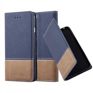 Cadorabo Hülle für Apple iPhone 6 PLUS / iPhone 6S PLUS in BLAU BRAUN ? Handyhülle mit Magnetverschluss, Standfunktion und Kartenfach ? Case Cover Schutzhülle Etui Tasche Book Klapp Style