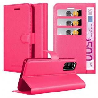 Cadorabo Hülle für Honor View 30 pro in CHERRY PINK Handyhülle mit Magnetverschluss, Standfunktion und Kartenfach Case Cover Schutzhülle Etui Tasche Book Klapp Style