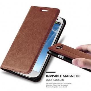Cadorabo Hülle für Samsung Galaxy S3 / S3 NEO in CAPPUCCINO BRAUN - Handyhülle mit Magnetverschluss, Standfunktion und Kartenfach - Case Cover Schutzhülle Etui Tasche Book Klapp Style