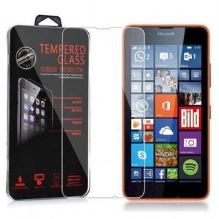 Cadorabo Panzer Folie für Nokia Lumia 640 - Schutzfolie in KRISTALL KLAR - Gehärtetes (Tempered) Display-Schutzglas in 9H Härte mit 3D Touch Kompatibilität