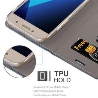 Cadorabo Hülle für Samsung Galaxy A5 2017 in DUNKEL BLAU SCHWARZ - Handyhülle mit Magnetverschluss, Standfunktion und Kartenfach - Case Cover Schutzhülle Etui Tasche Book Klapp Style - Vorschau 3