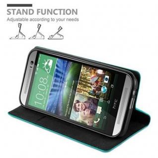 Cadorabo Hülle für HTC ONE M8 (2.Generation) in PETROL TÜRKIS - Handyhülle mit Magnetverschluss, Standfunktion und Kartenfach - Case Cover Schutzhülle Etui Tasche Book Klapp Style - Vorschau 4