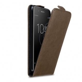 Cadorabo Hülle für Sony Xperia XA1 PLUS in KAFFEE BRAUN - Handyhülle im Flip Design mit Magnetverschluss - Case Cover Schutzhülle Etui Tasche Book Klapp Style