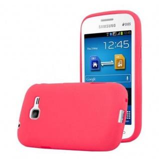 Cadorabo Hülle für Samsung Galaxy TREND LITE in FROST ROT - Handyhülle aus flexiblem TPU Silikon - Silikonhülle Schutzhülle Ultra Slim Soft Back Cover Case Bumper