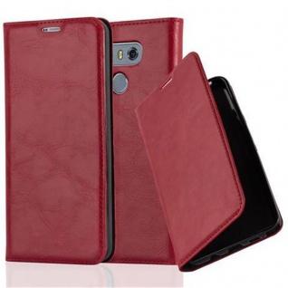 Cadorabo Hülle für LG G6 in APFEL ROT Handyhülle mit Magnetverschluss, Standfunktion und Kartenfach Case Cover Schutzhülle Etui Tasche Book Klapp Style