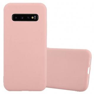 Cadorabo Hülle für Samsung Galaxy S10 in CANDY ROSA - Handyhülle aus flexiblem TPU Silikon - Silikonhülle Schutzhülle Ultra Slim Soft Back Cover Case Bumper