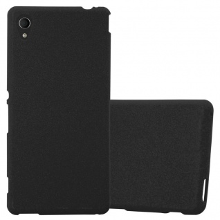 Cadorabo Hülle für Sony Xperia M4 AQUA in FROST SCHWARZ - Handyhülle aus flexiblem TPU Silikon - Silikonhülle Schutzhülle Ultra Slim Soft Back Cover Case Bumper