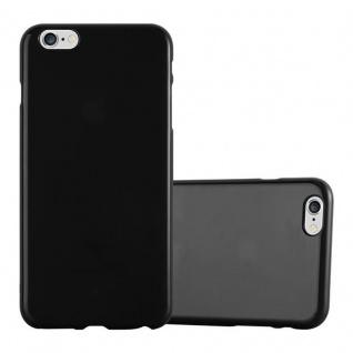Cadorabo Hülle für Apple iPhone 6 PLUS / iPhone 6S PLUS in JELLY SCHWARZ Handyhülle aus flexiblem TPU Silikon Silikonhülle Schutzhülle Ultra Slim Soft Back Cover Case Bumper