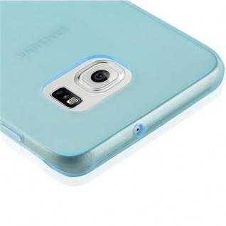 Cadorabo Hülle für Samsung Galaxy S6 EDGE PLUS in TRANSPARENT BLAU - Handyhülle aus flexiblem TPU Silikon - Silikonhülle Schutzhülle Ultra Slim Soft Back Cover Case Bumper - Vorschau 5