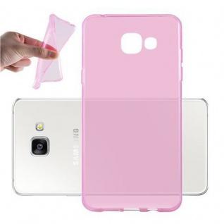 Cadorabo Hülle für Samsung Galaxy A5 2016 in TRANSPARENT PINK - Handyhülle aus flexiblem TPU Silikon - Silikonhülle Schutzhülle Ultra Slim Soft Back Cover Case Bumper