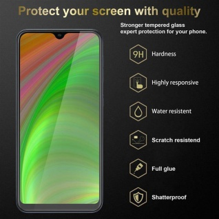 Cadorabo 3x Vollbild Panzer Folie für Samsung Galaxy A10 - Schutzfolie in TRANSPARENT mit SCHWARZ - 3er Pack Gehärtetes (Tempered) Display-Schutzglas in 9H Härte mit 3D Touch - Vorschau 2