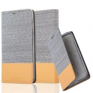 Cadorabo Hülle für Huawei P20 in HELL GRAU BRAUN - Handyhülle mit Magnetverschluss, Standfunktion und Kartenfach - Case Cover Schutzhülle Etui Tasche Book Klapp Style