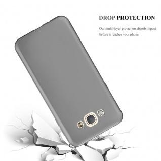 Cadorabo Hülle für Samsung Galaxy A8 2015 in METALLIC GRAU - Handyhülle aus flexiblem TPU Silikon - Silikonhülle Schutzhülle Ultra Slim Soft Back Cover Case Bumper - Vorschau 3