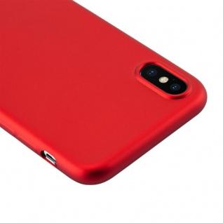 Cadorabo Hülle für Apple iPhone X / XS in METALLIC ROT - Handyhülle aus flexiblem TPU Silikon - Silikonhülle Schutzhülle Ultra Slim Soft Back Cover Case Bumper - Vorschau 5