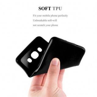 Cadorabo Hülle für Samsung Galaxy J7 2016 in METALLIC SCHWARZ - Handyhülle aus flexiblem TPU Silikon - Silikonhülle Schutzhülle Ultra Slim Soft Back Cover Case Bumper - Vorschau 5