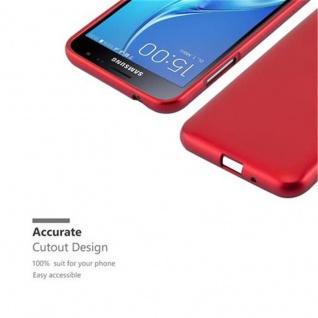 Cadorabo Hülle für Samsung Galaxy J3 / J3 DUOS 2016 in METALLIC ROT - Handyhülle aus flexiblem TPU Silikon - Silikonhülle Schutzhülle Ultra Slim Soft Back Cover Case Bumper - Vorschau 2