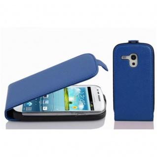 Cadorabo Hülle für Samsung Galaxy S3 MINI - Hülle in KÖNIGS BLAU ? Handyhülle aus strukturiertem Kunstleder im Flip Design - Case Cover Schutzhülle Etui Tasche