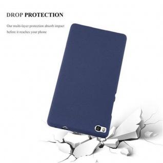 Cadorabo Hülle für Huawei P8 in FROST DUNKEL BLAU - Handyhülle aus flexiblem TPU Silikon - Silikonhülle Schutzhülle Ultra Slim Soft Back Cover Case Bumper - Vorschau 4