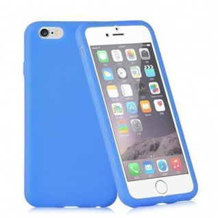 Cadorabo - TPU Silikon Schutzhülle (Full Body Rund-um-Schutz auch für das Display) für Apple iPhone 6 PLUS / iPhone 6S PLUS in ALKALI BLAU