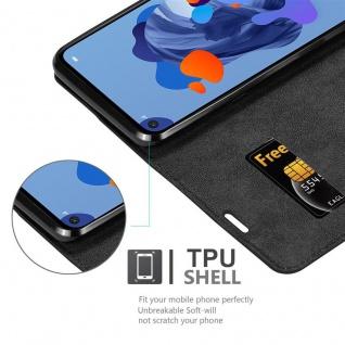 Cadorabo Hülle für Huawei MATE 30 LITE in NACHT SCHWARZ - Handyhülle mit Magnetverschluss, Standfunktion und Kartenfach - Case Cover Schutzhülle Etui Tasche Book Klapp Style - Vorschau 4