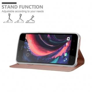 Cadorabo Hülle für HTC Desire 10 Lifestyle / Desire 825 in CLASSY ROSÉ GOLD - Handyhülle mit Magnetverschluss, Standfunktion und Kartenfach - Case Cover Schutzhülle Etui Tasche Book Klapp Style - Vorschau 4