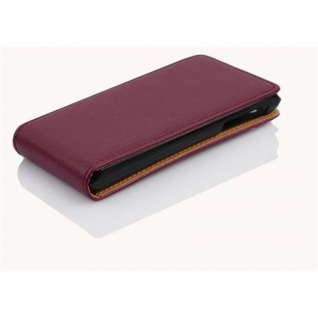 Cadorabo Hülle für Sony Xperia J in BORDEAUX LILA - Handyhülle im Flip Design aus strukturiertem Kunstleder - Case Cover Schutzhülle Etui Tasche Book Klapp Style - Vorschau 3