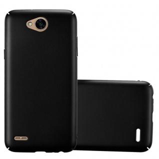 Cadorabo Hülle für LG X Power 2 in METALL SCHWARZ - Hardcase Handyhülle aus Plastik gegen Kratzer und Stöße - Schutzhülle Bumper Ultra Slim Back Case Hard Cover