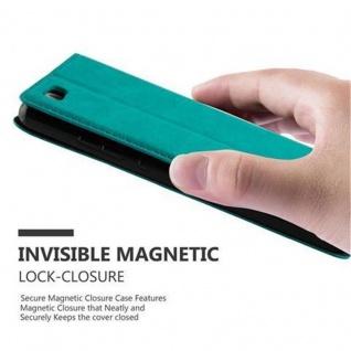 Cadorabo Hülle für Huawei P8 LITE 2015 in PETROL TÜRKIS - Handyhülle mit Magnetverschluss, Standfunktion und Kartenfach - Case Cover Schutzhülle Etui Tasche Book Klapp Style - Vorschau 5