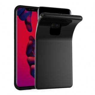 Cadorabo Hülle für Huawei MATE 20 PRO in SCHWARZ - Handyhülle aus flexiblem TPU Silikon - Silikonhülle Schutzhülle Ultra Slim Soft Back Cover Case Bumper