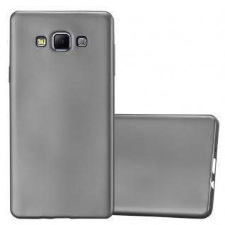 Cadorabo Hülle für Samsung Galaxy A7 2015 in METALLIC GRAU - Handyhülle aus flexiblem TPU Silikon - Silikonhülle Schutzhülle Ultra Slim Soft Back Cover Case Bumper - Vorschau 1