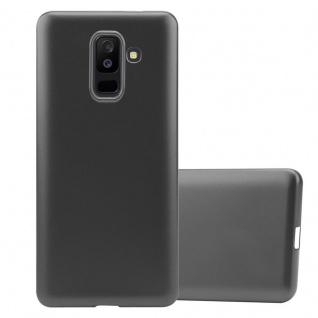 Cadorabo Hülle für Samsung Galaxy A6 PLUS 2018 in METALLIC GRAU Handyhülle aus flexiblem TPU Silikon Silikonhülle Schutzhülle Ultra Slim Soft Back Cover Case Bumper